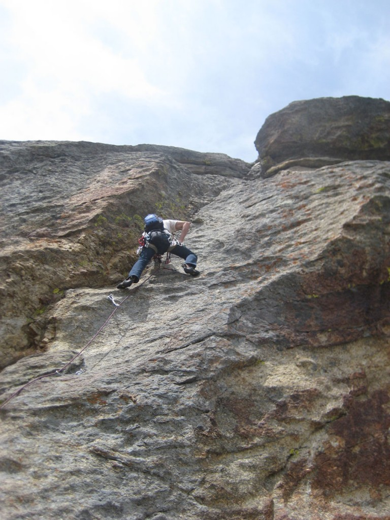 Me leading the crux pitch.