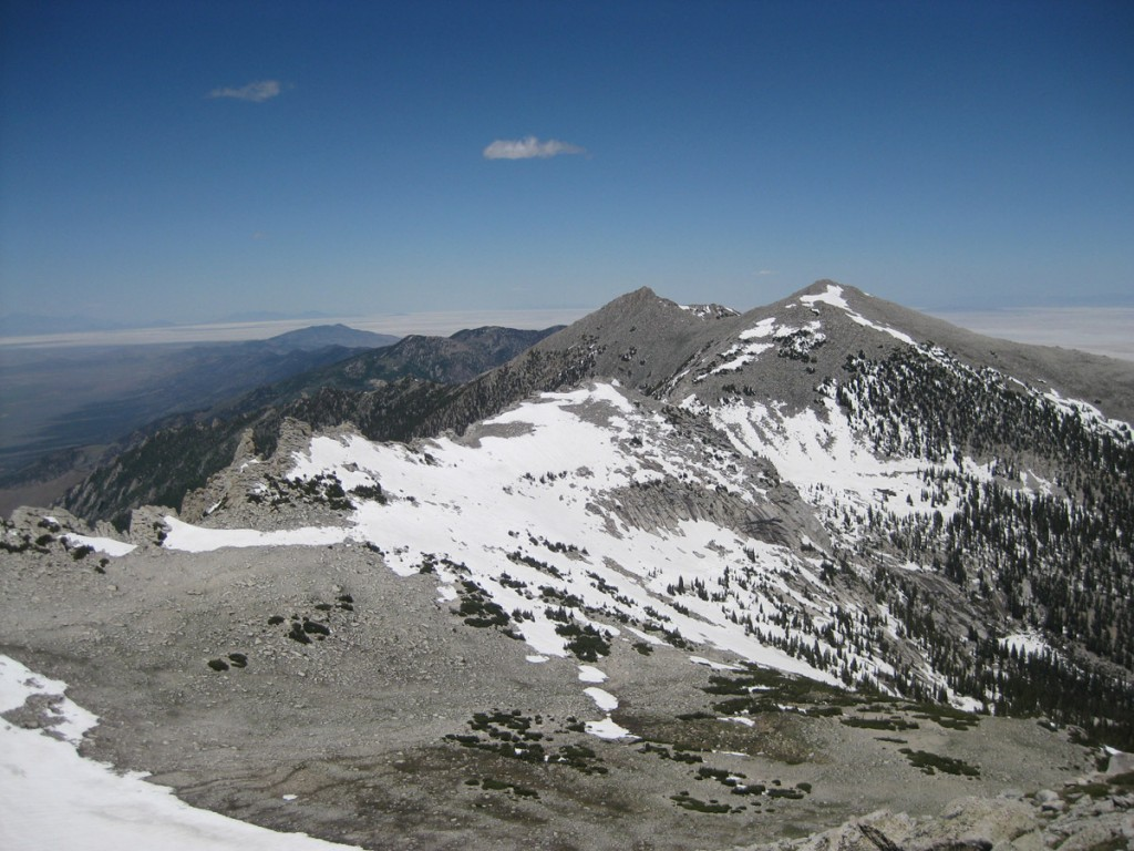 Looking north from the summit.