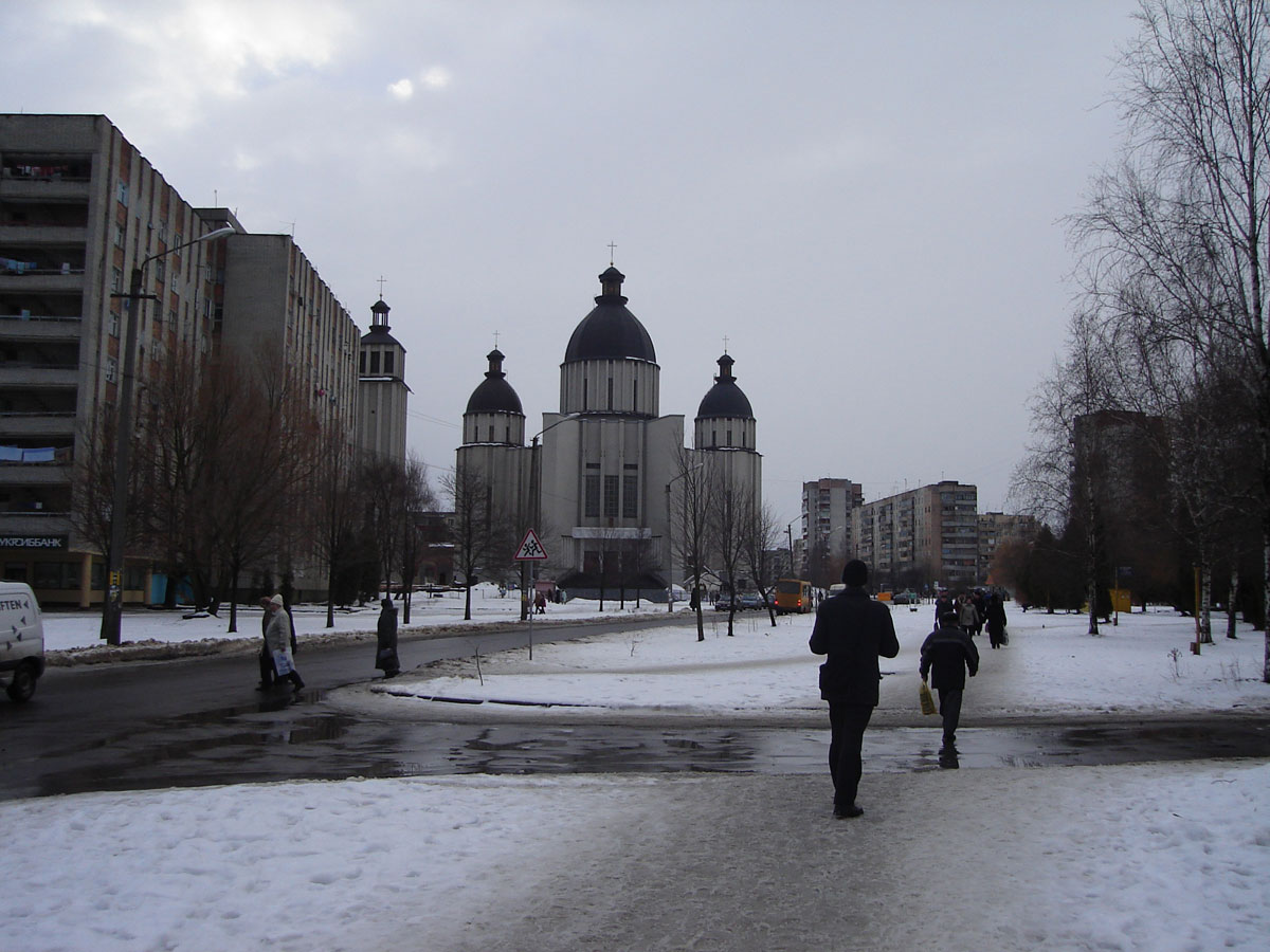 An ugly modern church in the more Soviet part of the city.