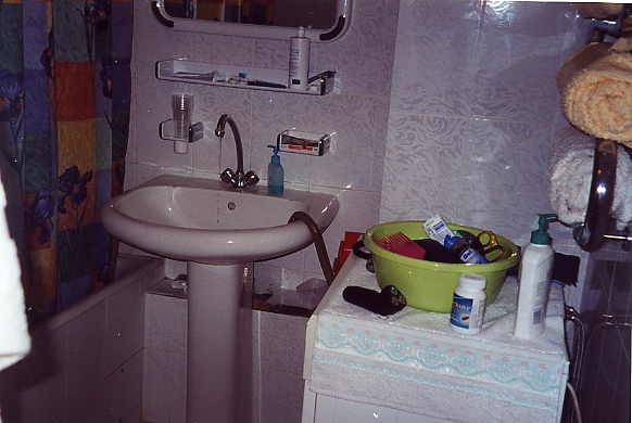 The bathroom in our apartment.