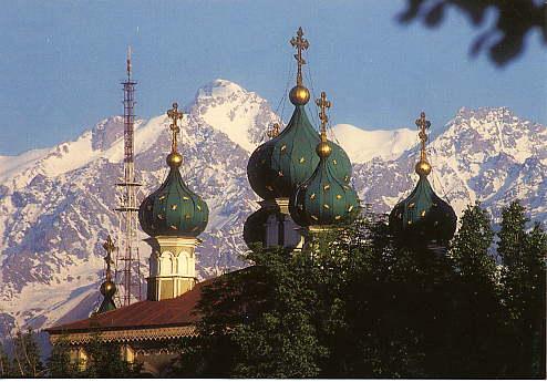 A Russian orthodox church.