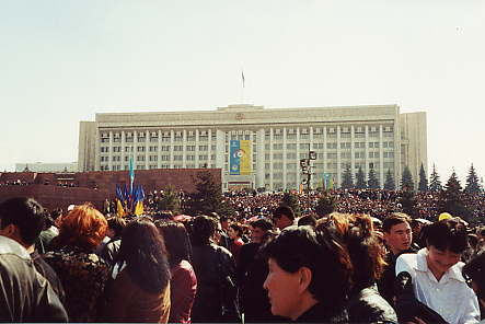 In the main square during the Kazakh new year holiday of Nauryz.