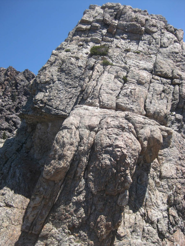 The crux of the route.