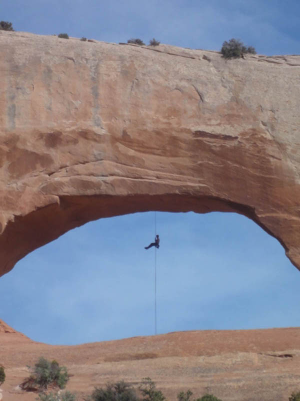 Me rappelling.