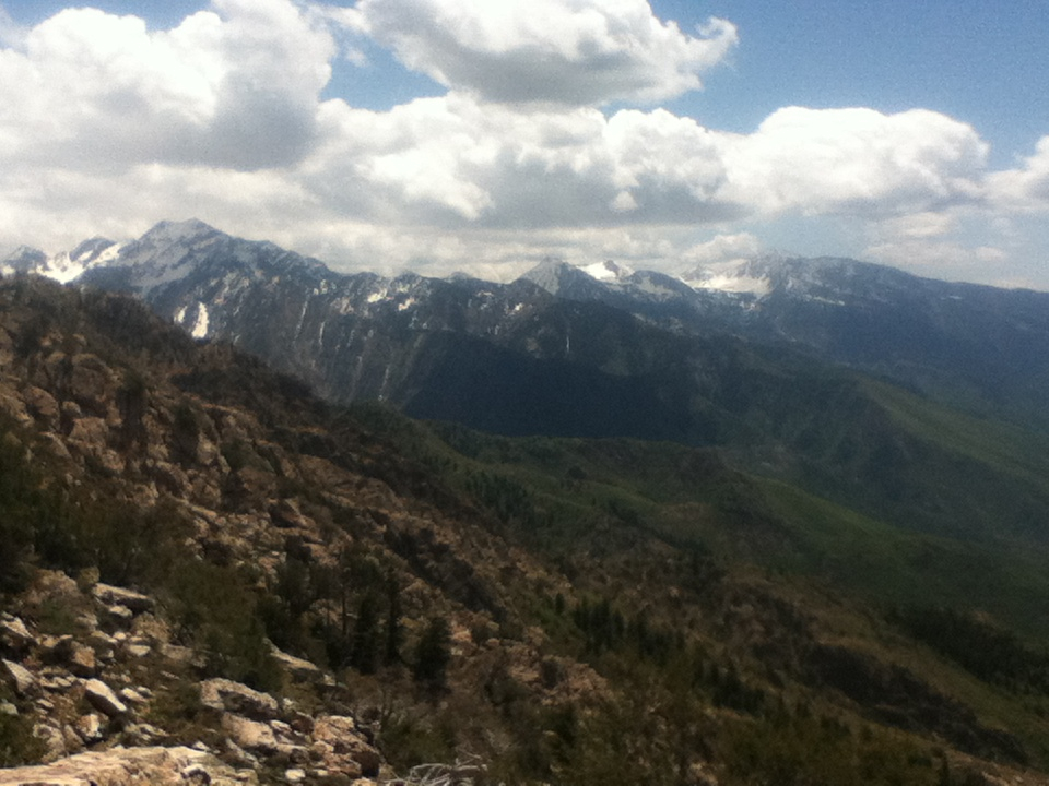 Looking over to Guert's Rdige and Big Cottonwood Canyon.
