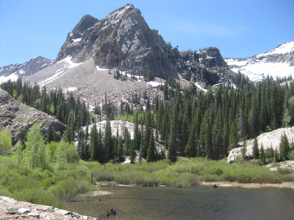 Sundial and Lake Blanche.