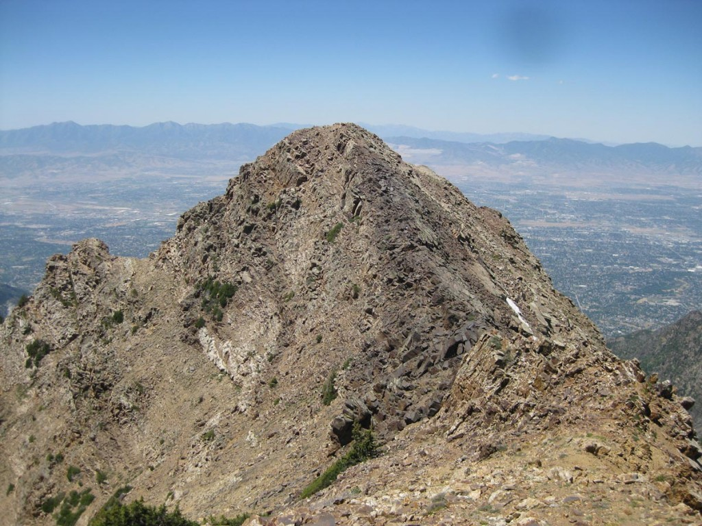 Looking toward the west summit of Twin Peaks.