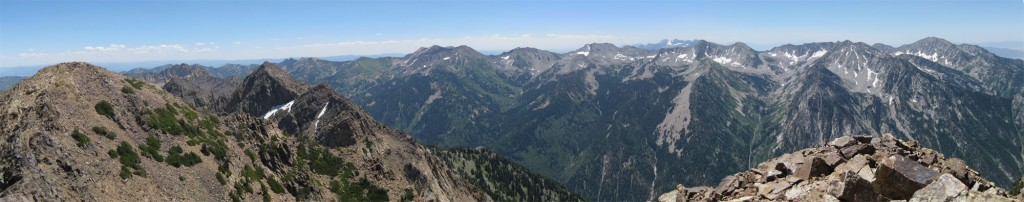 Panorama from the west summit.