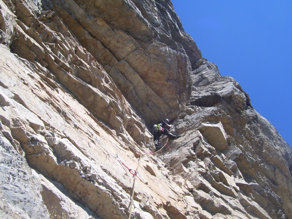 Me on the crux pitch (pitch 14).